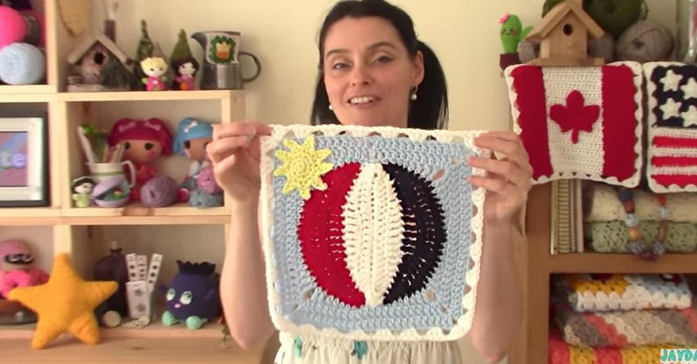 crochet beach ball final