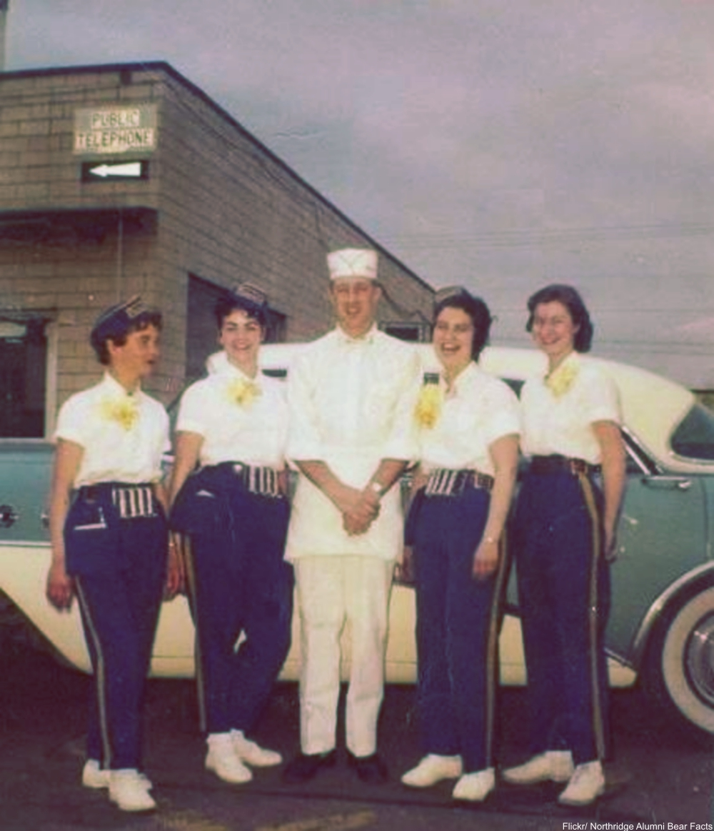 Car Hops and Drive-ins As They Were in the Good Old Days