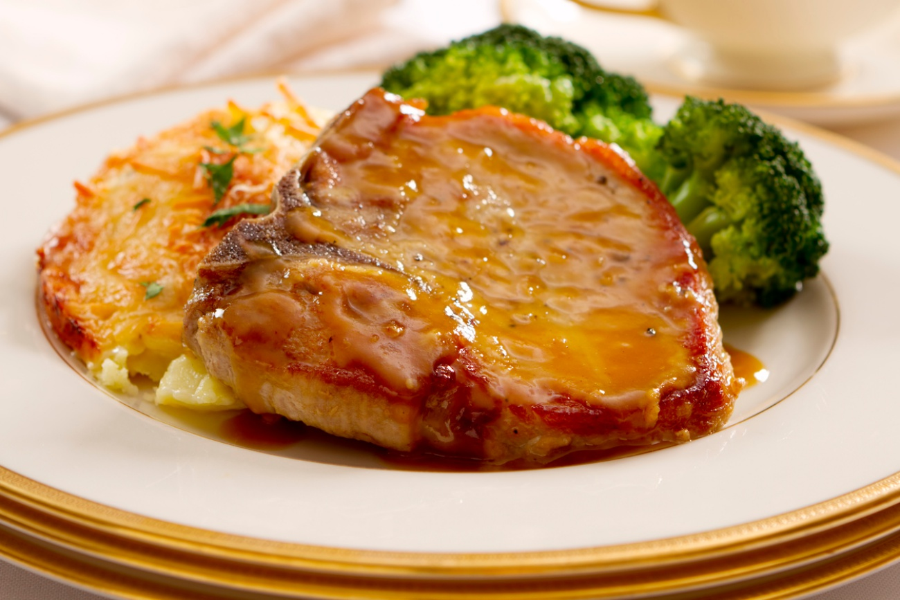 Mustard and Honey Glazed Pork Chops