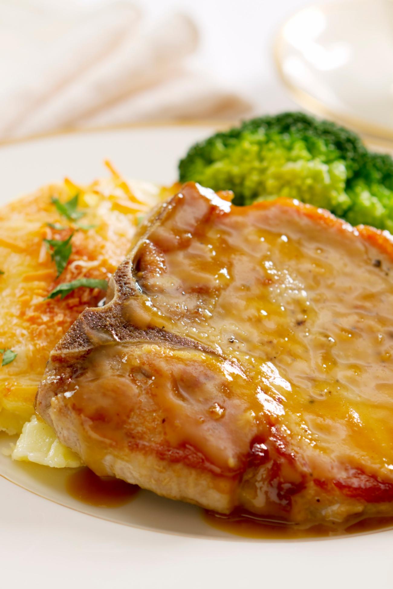 Mustard and Honey Glazed Pork Chop