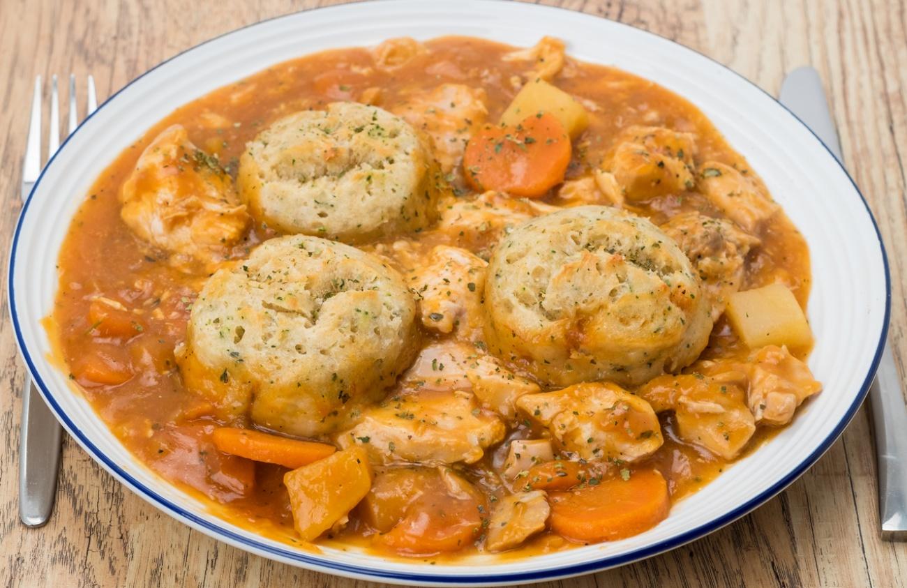 Chicken casserole and dumplings dinner