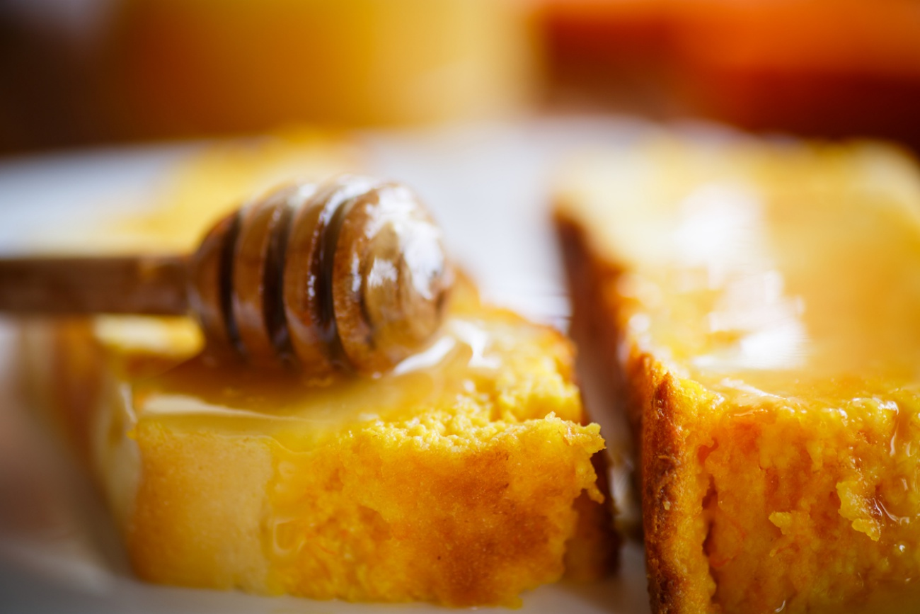 sweet curd pudding with pumpkin