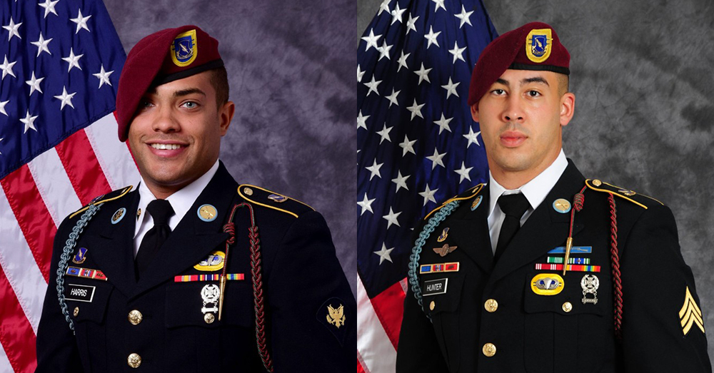 Photos: U.S. Army -- Spc. Christopher Michael Harris and Sgt. Jonathan Michael Hunter were killed in Afghanistan on August 2.