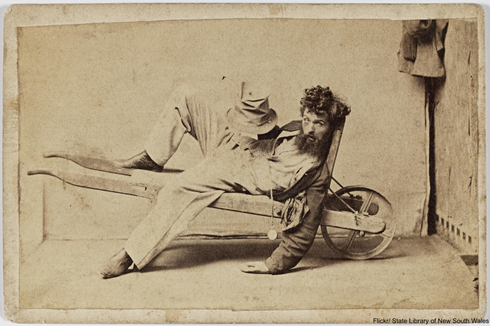The 5 Stages of Inebriation According to an 1860s Photo Series