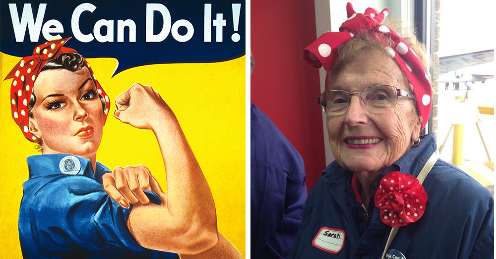Photos: The iconic Rosie the Riveter poster by artist J. Howard Miller, and