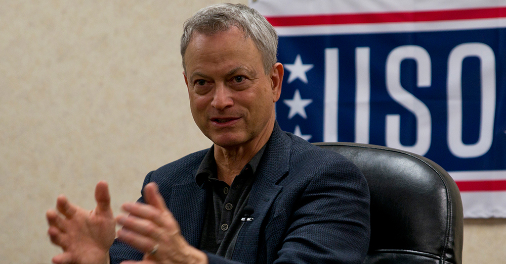 Photo: U.S. Air Force/Master Sgt. Jeff Walston -- Gary Sinise's support of the military has been unparalleled for decades.