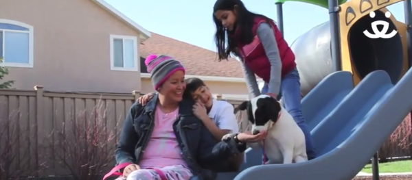 The family loves Stella. (Photo courtesy of Best Friends Animal Society/YouTube)