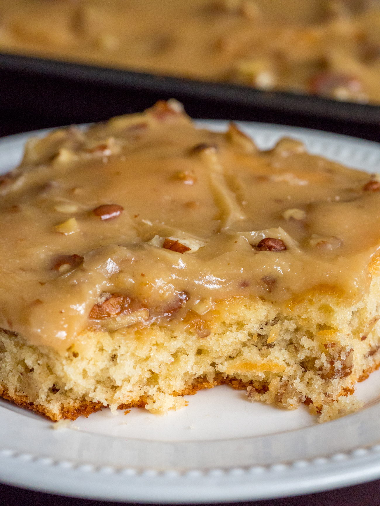 Butter Pecan Sheet Cake Vertical 5