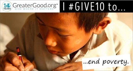 GreaterGood.org celebrates 10 years of giving!