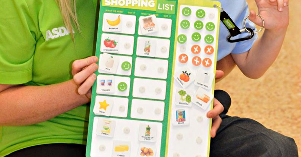 Facebook/Asda: The Happy Little Helpers shopping list