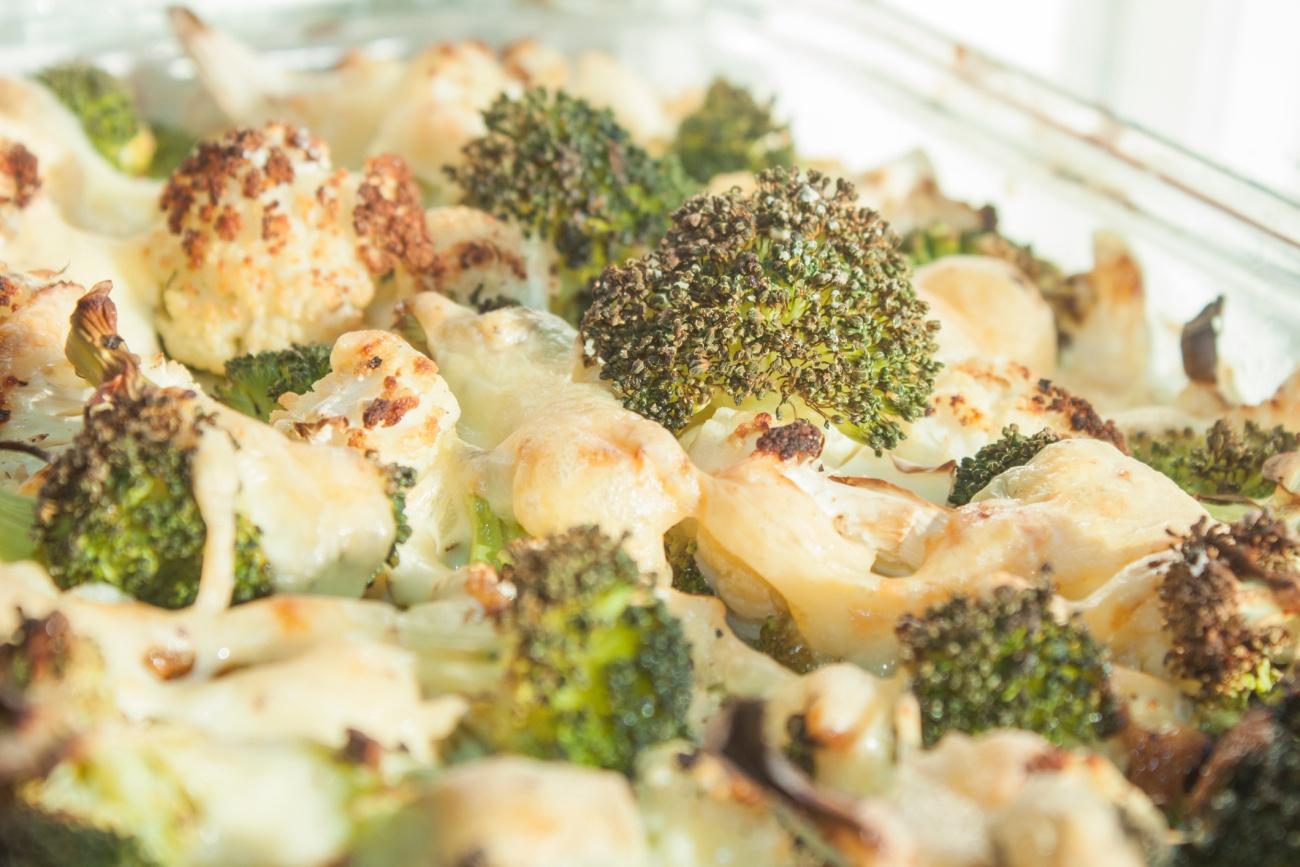 Broccoli and cauliflower gratin