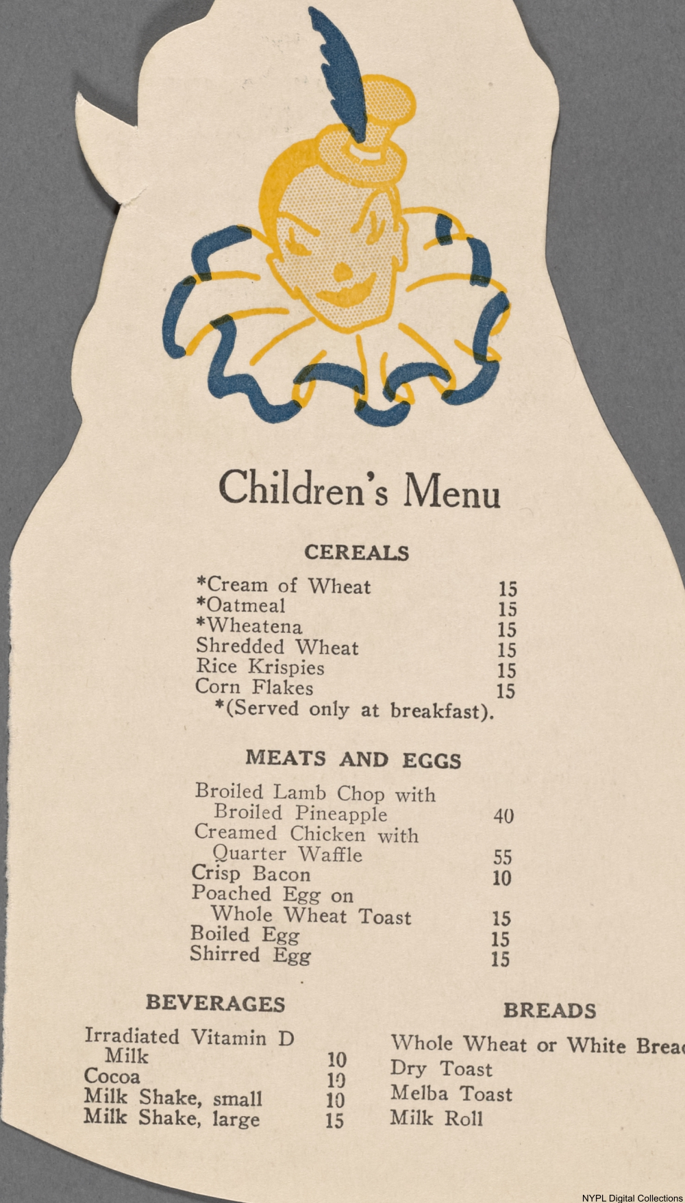 Kids Menu Items from a Century Ago That Would Never Fly Today