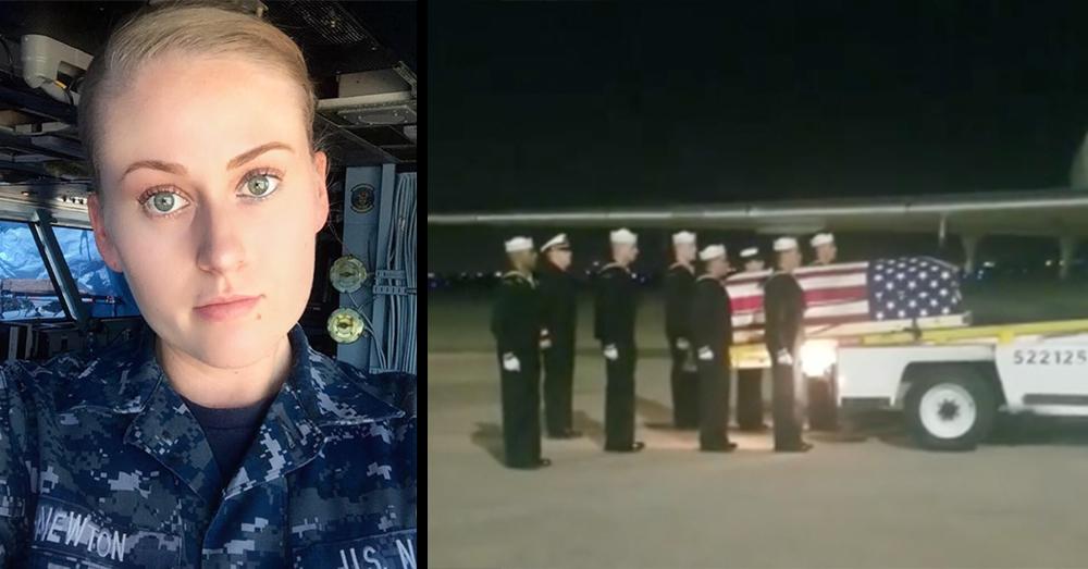 Photos: Facebook/Brooke Newton, Jennifer Nadeau -- AVN Boatswain's Mate Brooke Newton, USN, died on August 30 in San Diego, Calif.