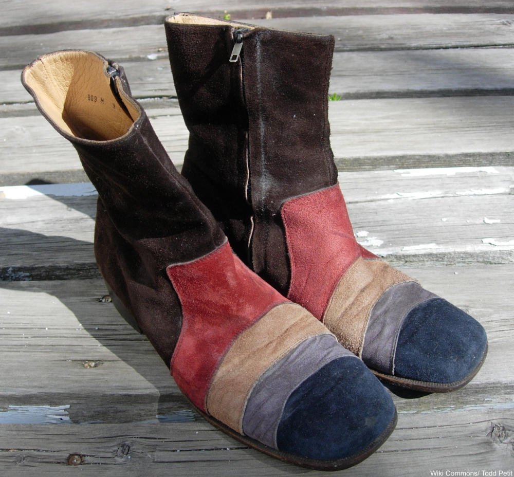 1970s suede boots