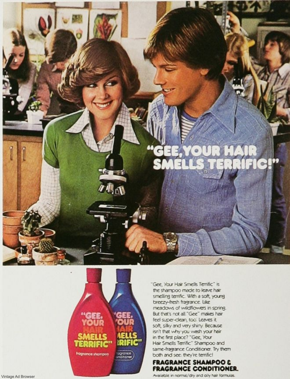1970s Gee Your Hair Smells Terrific Ad