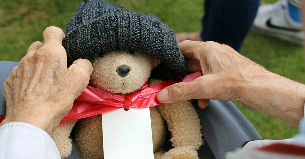 Grandfather Teddy Teddy Bear Hands Grandparent