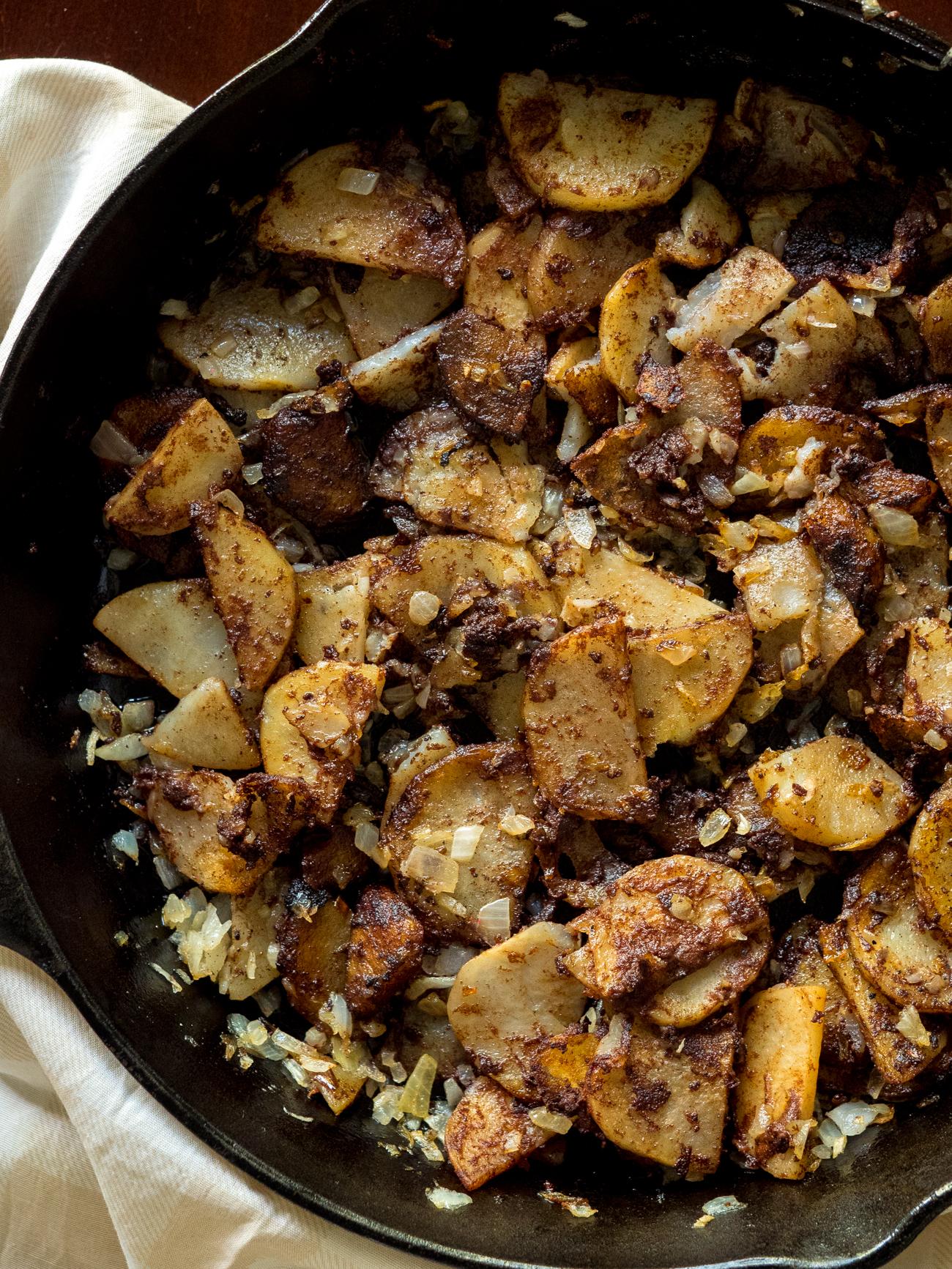 Crispy Cinnamon Potatoes Vertical 2