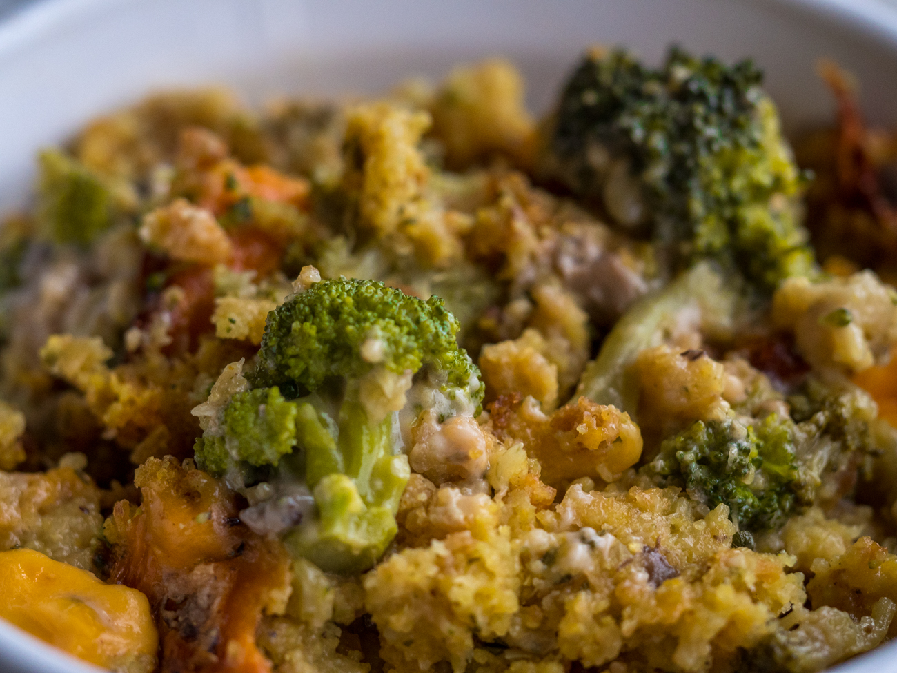 Velveeta Chicken Broccoli Stuffing Casserole-4953