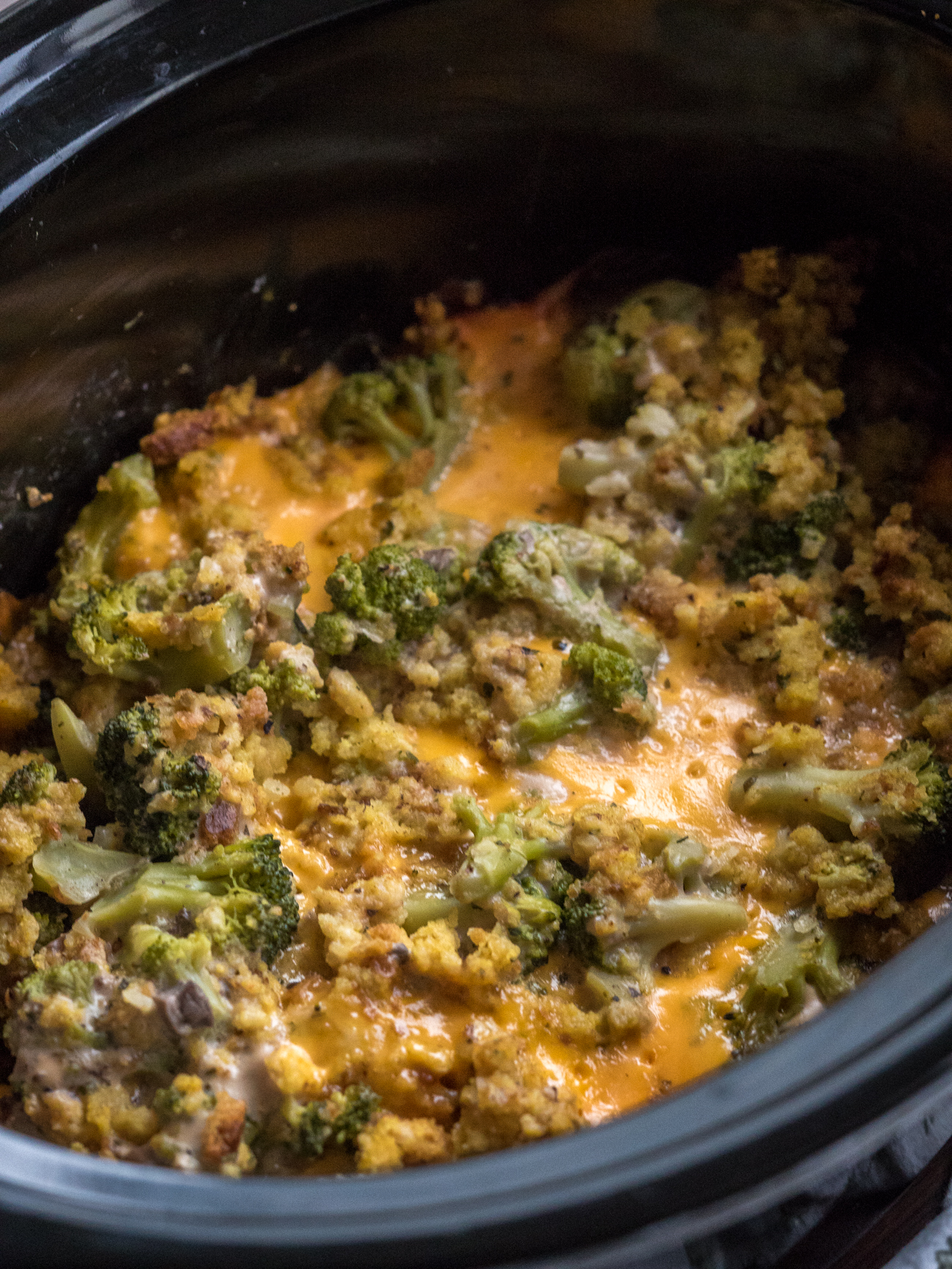 Crock Pot Broccoli Casserole Vertical 1