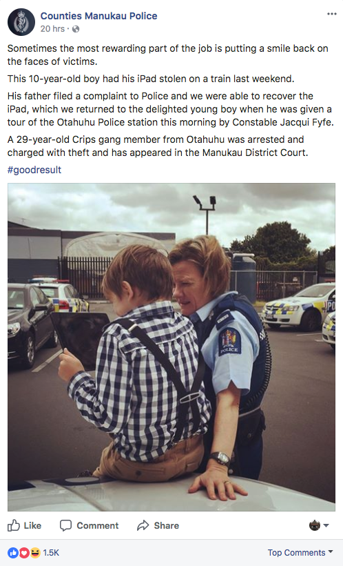 Facebook/Counties Manukau Police