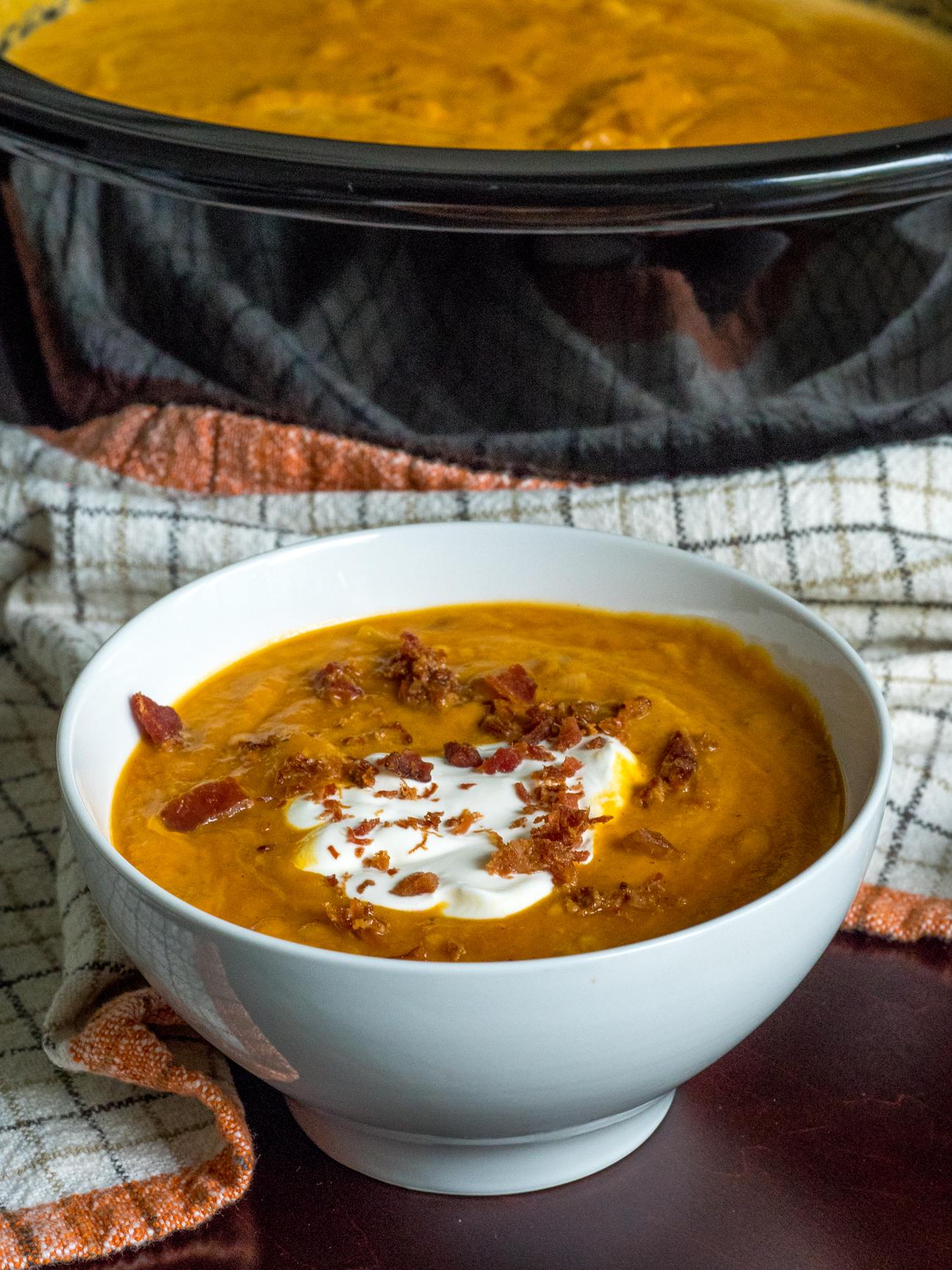 Slow Cooker Pumpkin Soup Vertical 5