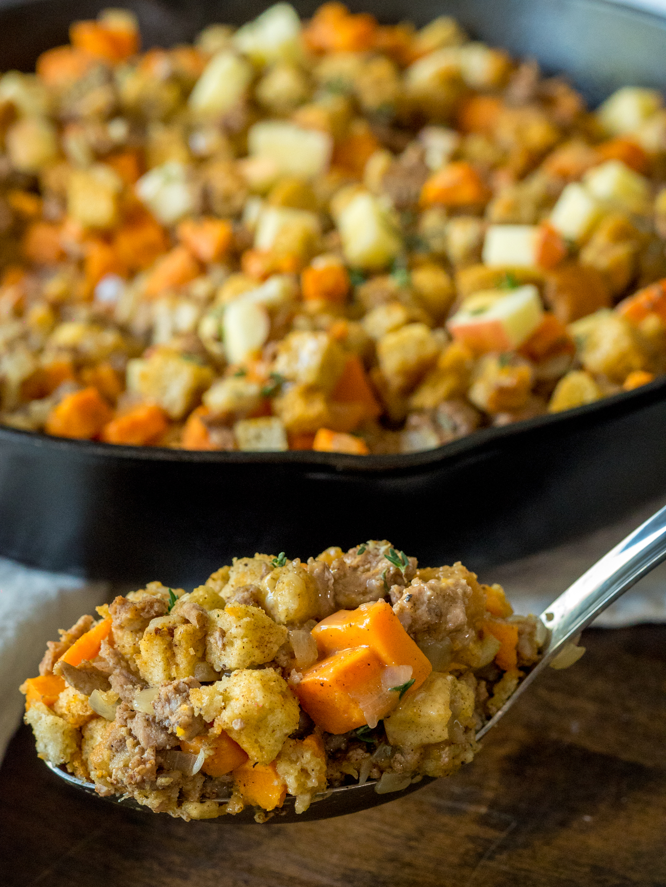 Sweet Potato Turkey Skillet Vertical 6