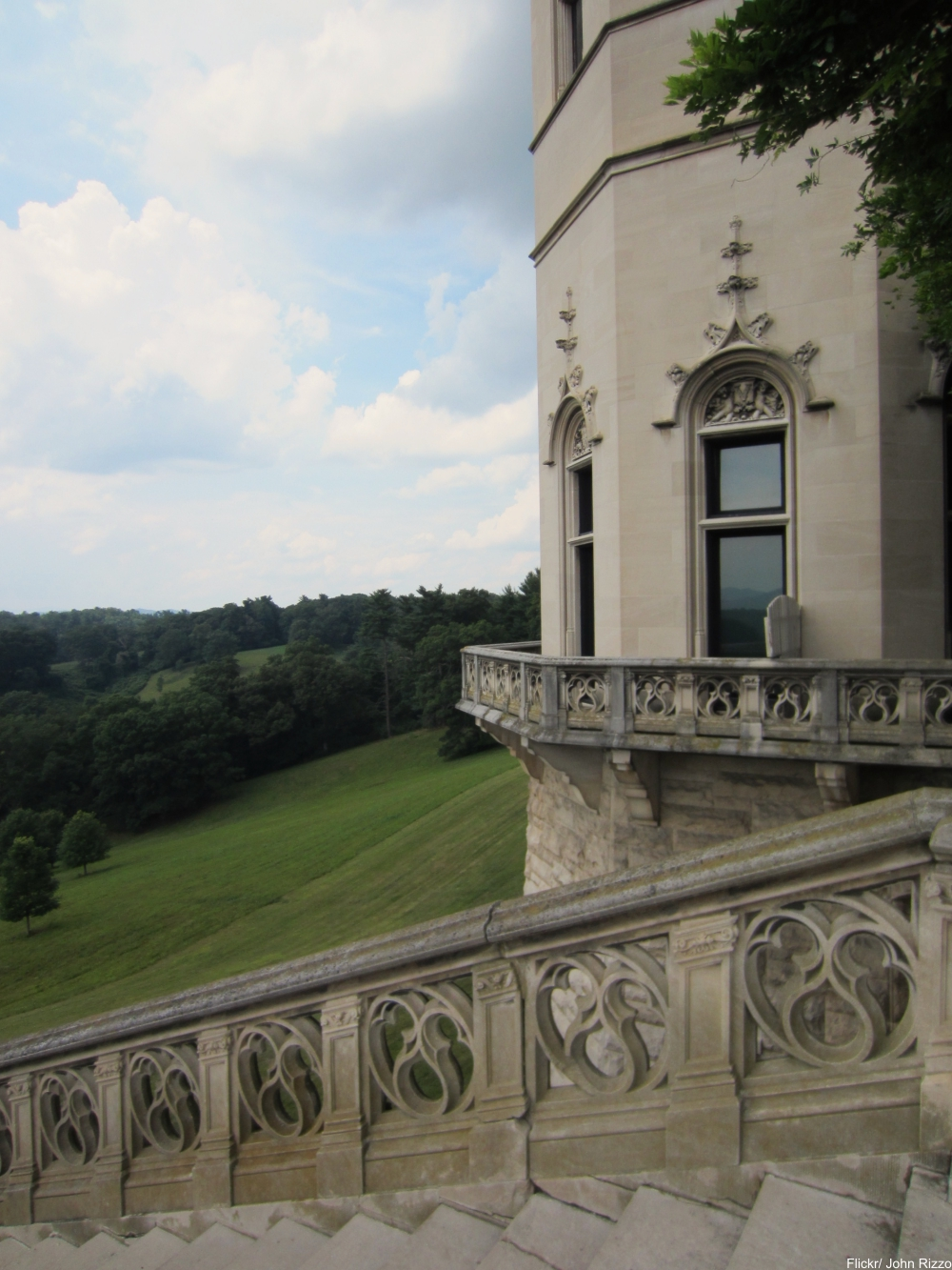 See Inside the Charming and Massive Biltmore Estate- exterior stairs