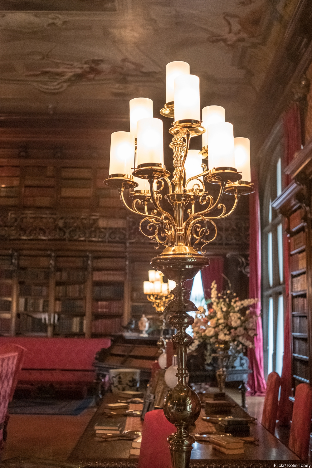 See Inside the Charming and Massive Biltmore Estate- library
