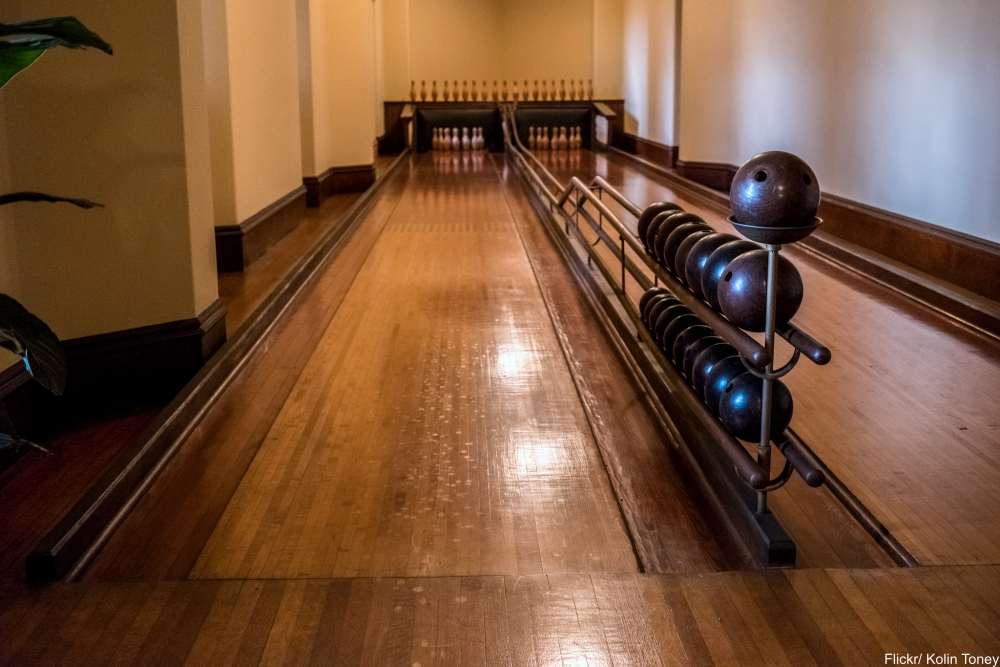 See Inside the Charming and Massive Biltmore Estate- bowling alley