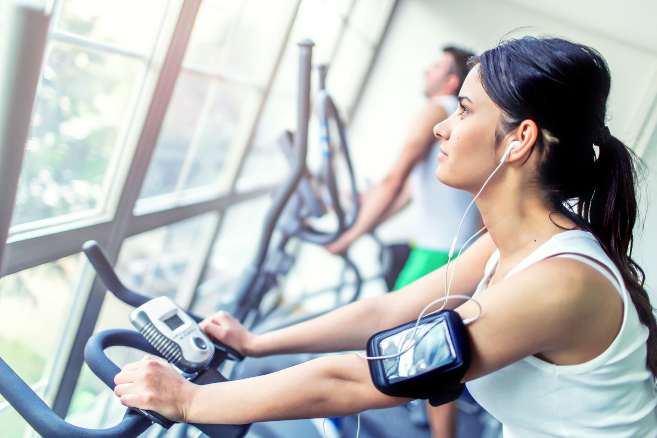 Cycling in a gym