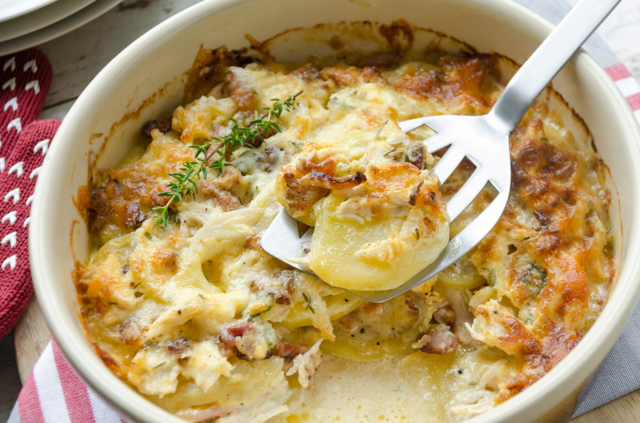 Creamy chicken and potato casserole