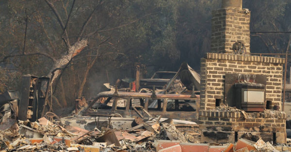 Source: Mark Vogler A home that was destroyed in the fires.