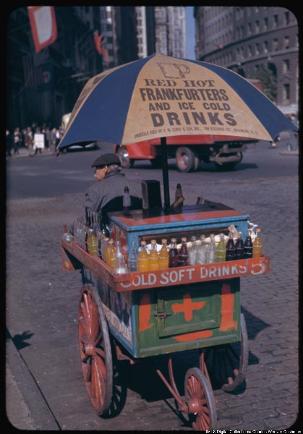 Portable soft drink stand at Bowling Green