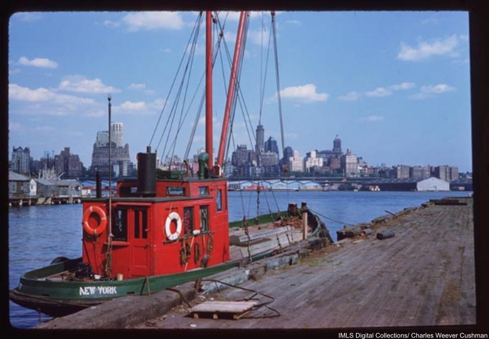 The Amy B and Brooklyn skyline