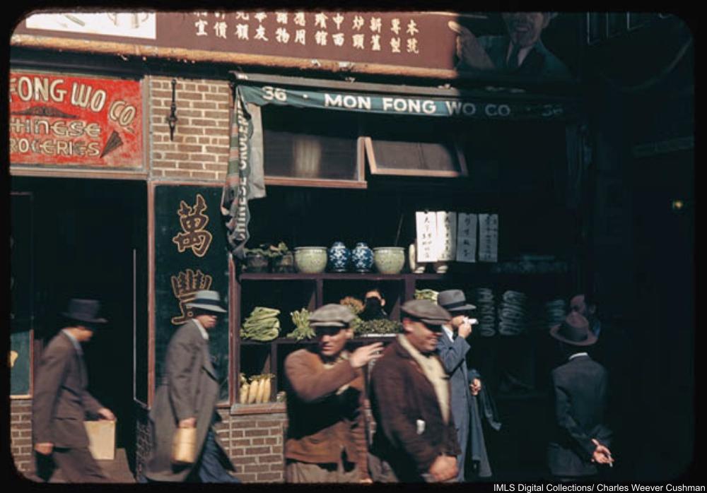 Chinese store windows New York
