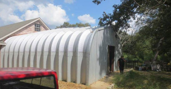 Source: Facebook/SPCA of Texas 117 animals were kept in stifling quonset huts in Texas.