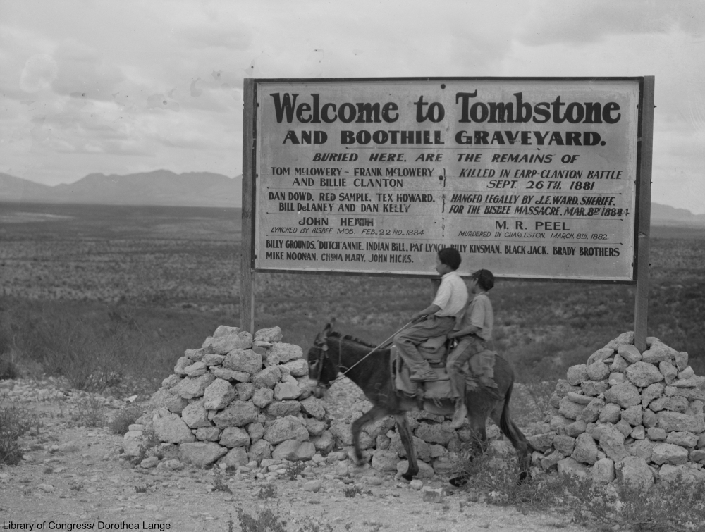 Depression Era Tombstone Was Truly a Ghost Town