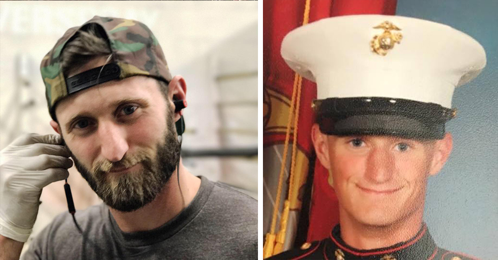 Photos: Facebook/Taylor Winston -- The Marine Corps veteran saved lives during the Las Vegas shooting by using a truck to take victims to the hospital.