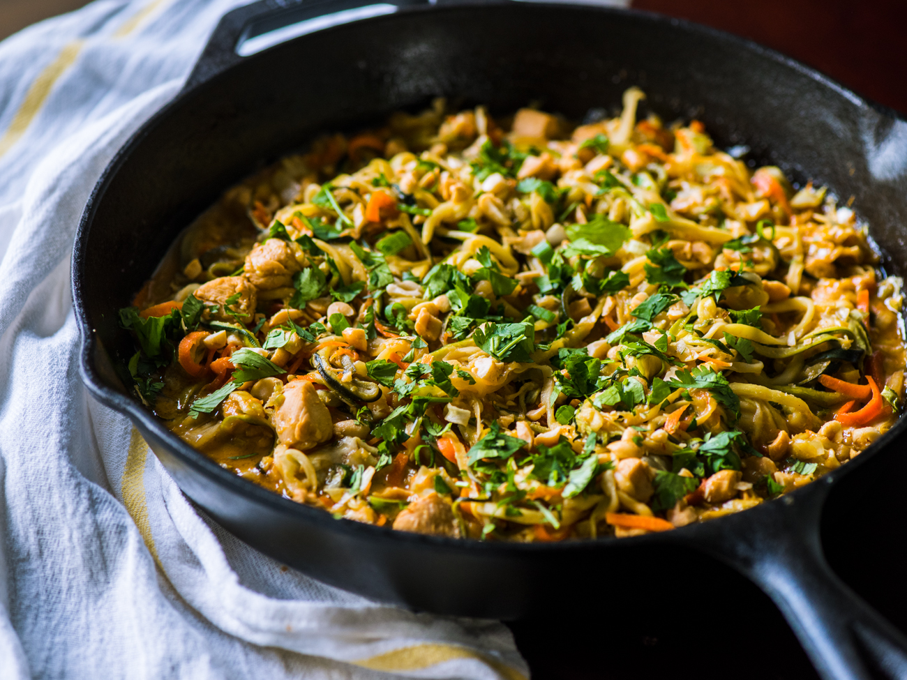 Chicken Zoodle Pad Thai Skillet Horizontal 8