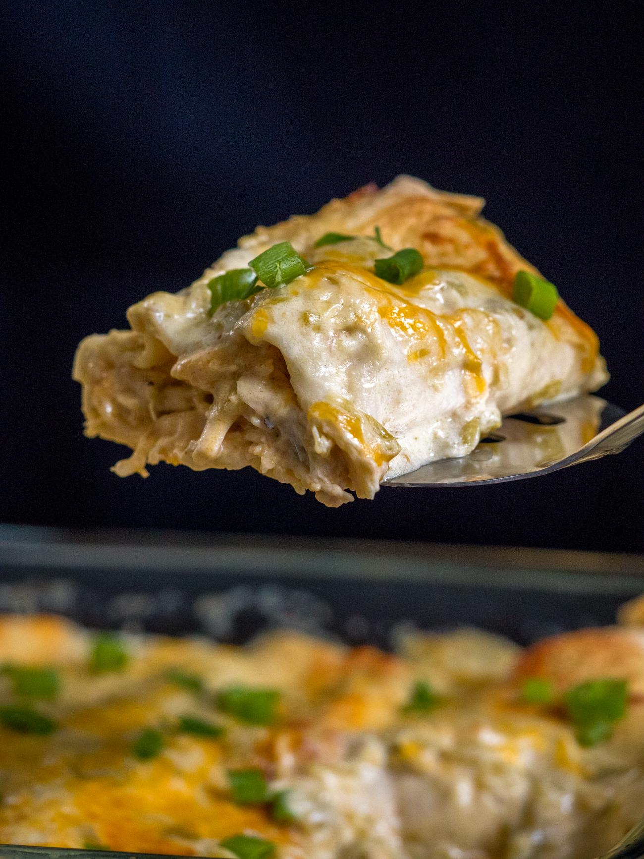 Cream Cheese Chicken Enchiladas Vertical 5