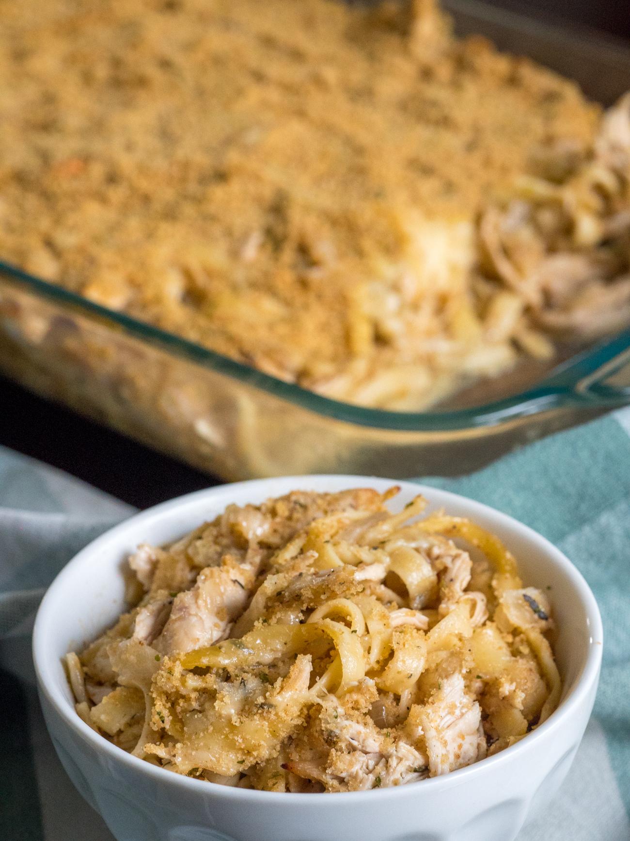 French Onion Chicken Pasta Casserole Vertical 4