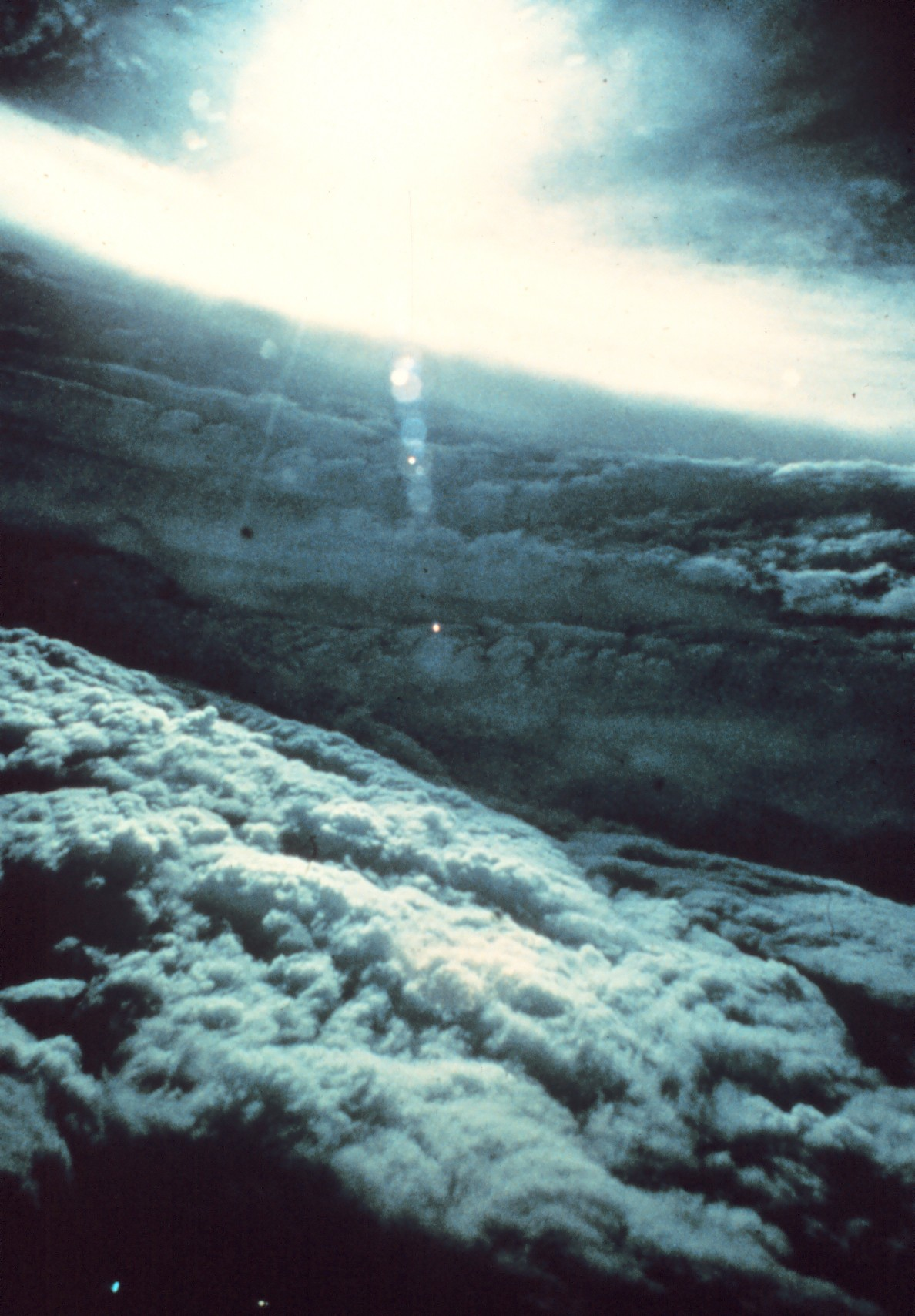 The eyewall of  Hurricane Beulah as seen from a NOAA stormchaser, 1963. Hurricane Beulah played waste to the East Coast of the United States in 1963, leading to the first in a series of government-funded attempts to influence or control the weather.