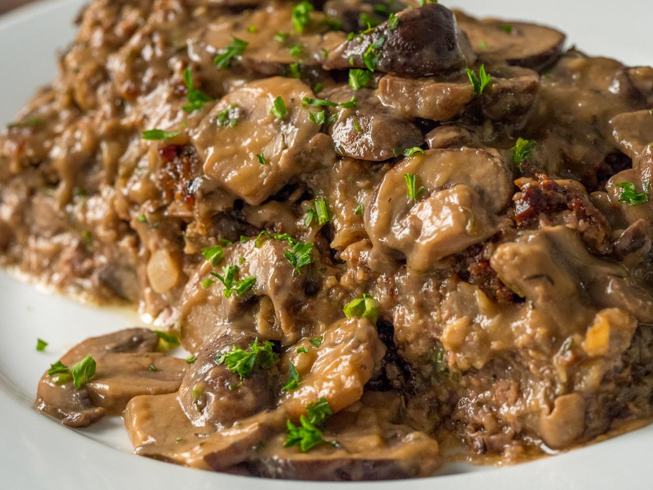 Mushroom Meatloaf Horizontal 4