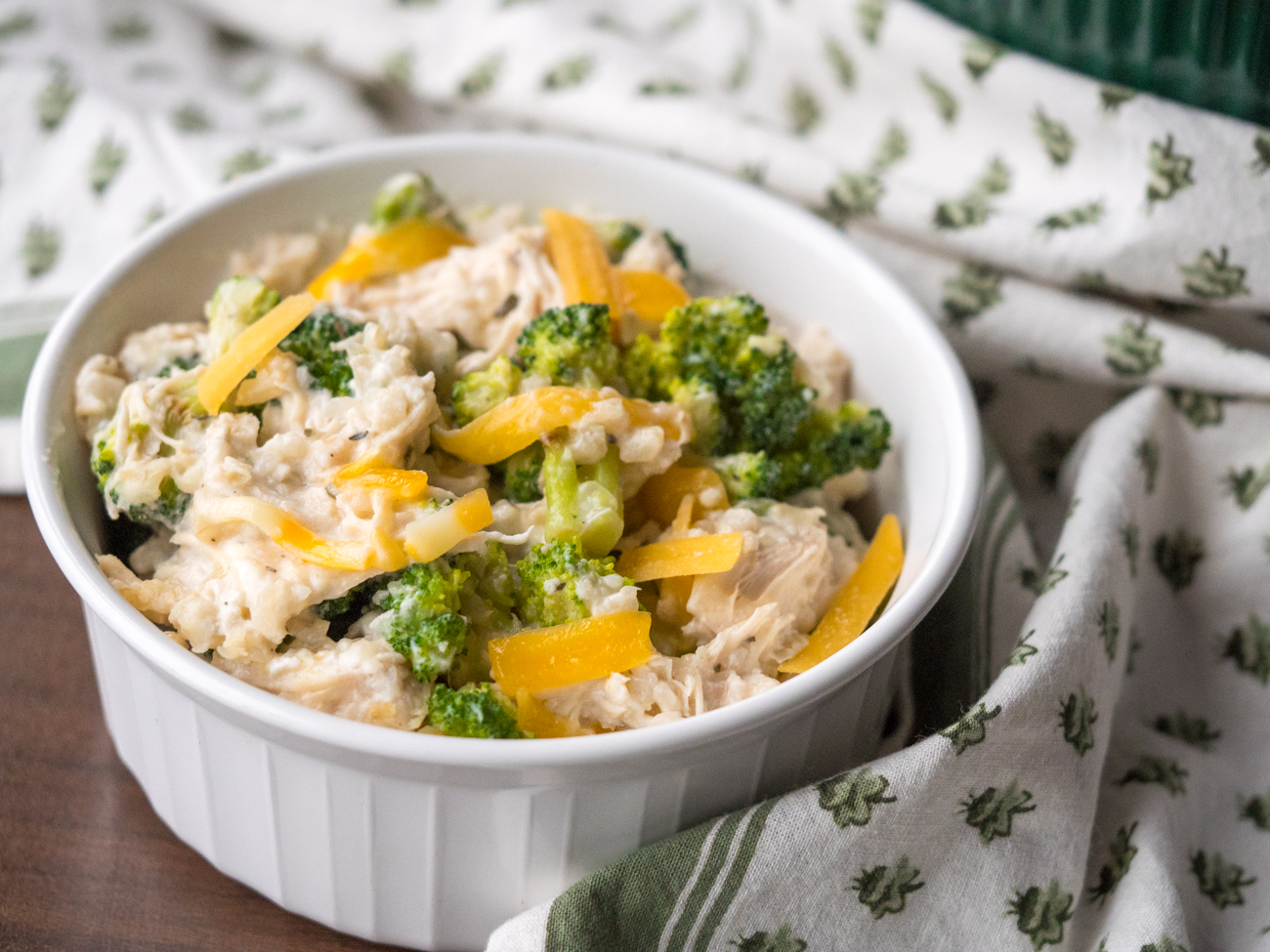 Slow Cooker Chicken Broccoli Rice Casserole Horizontal 8