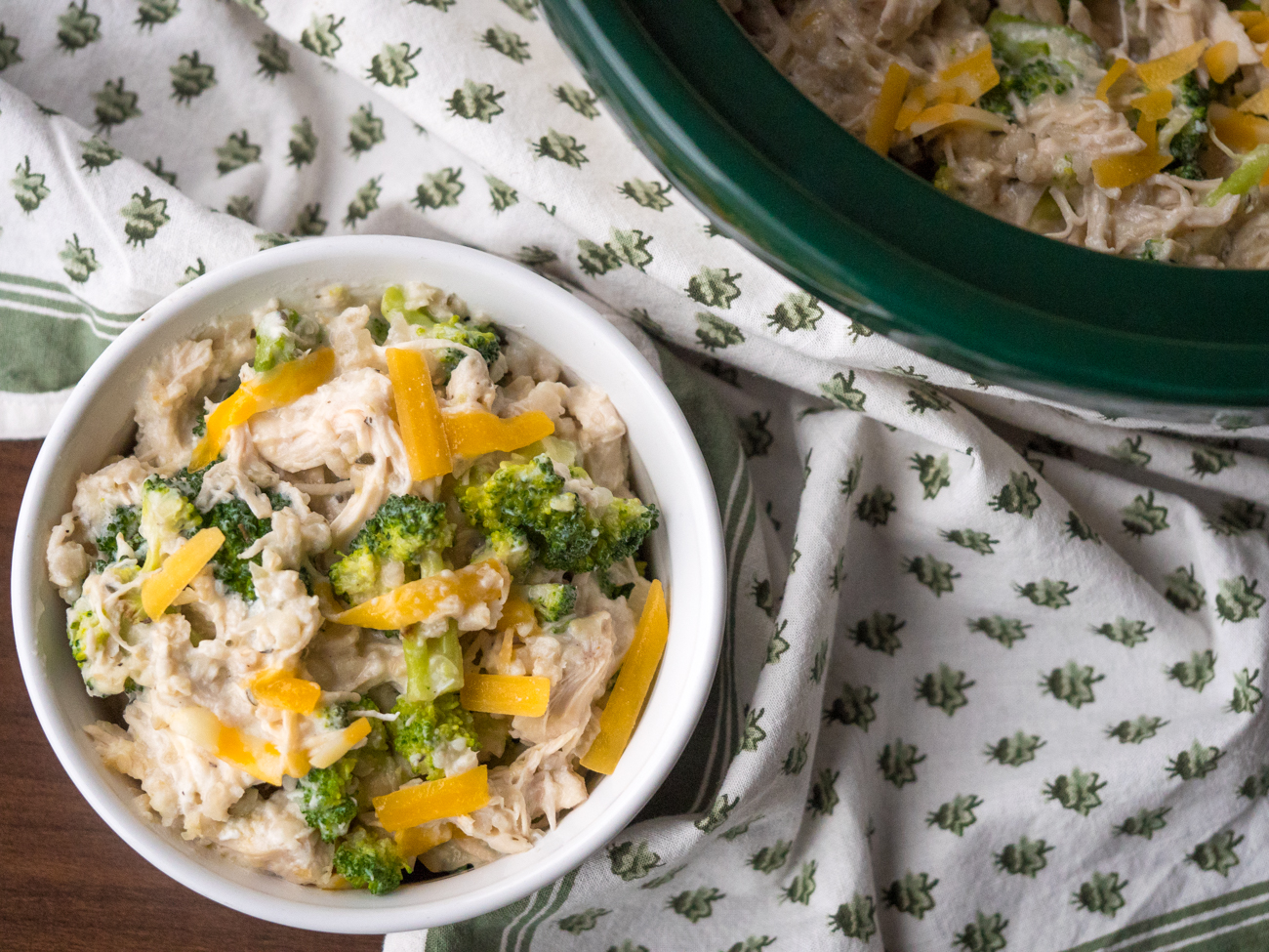 Slow Cooker Chicken Broccoli Rice Casserole Horizontal 9