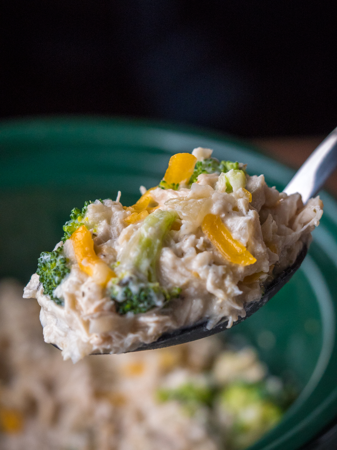 Slow Cooker Chicken Broccoli Rice Casserole Vertical 5