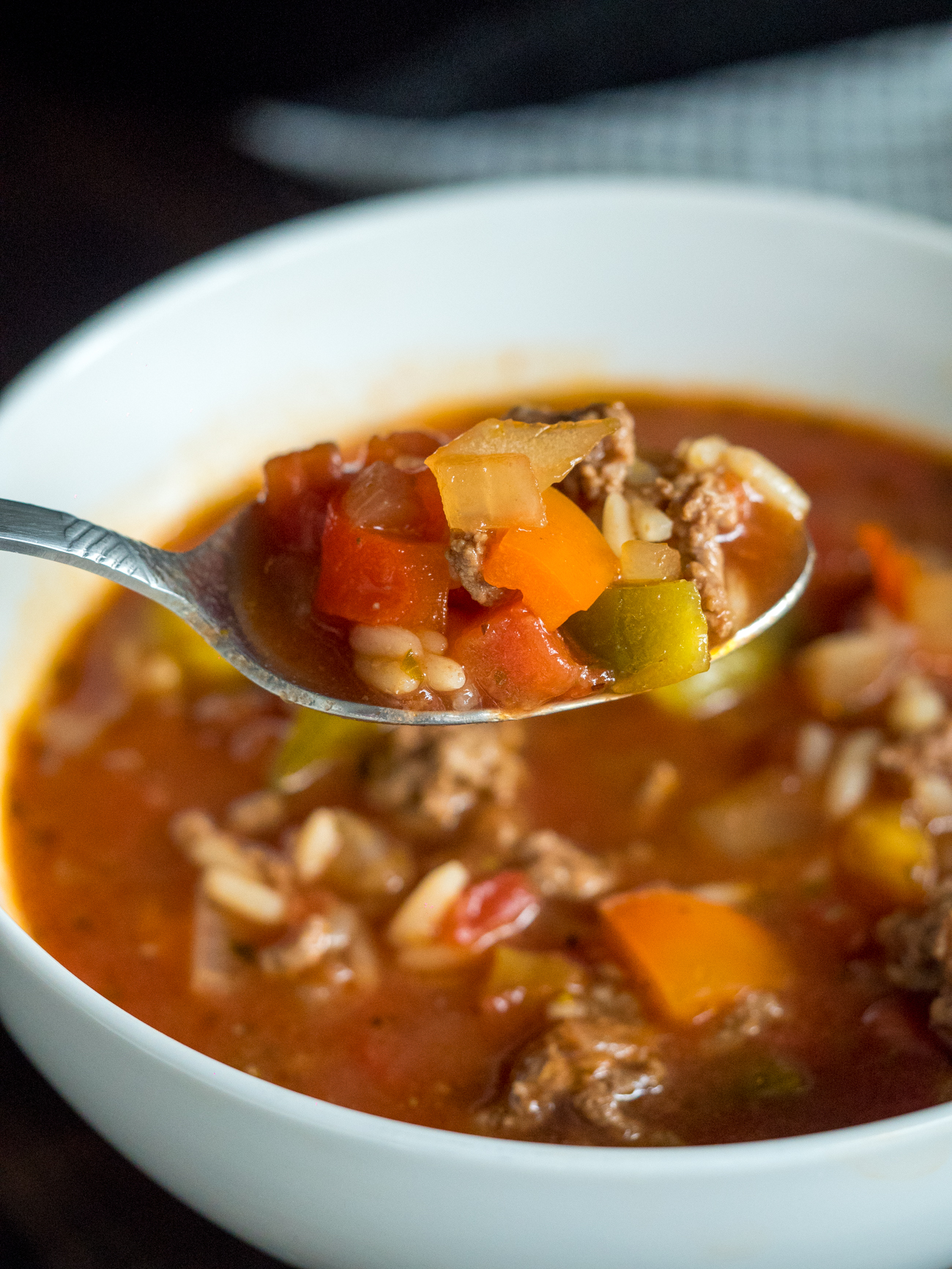 Slow Cooker Stuffed Pepper Soup Vertical 2