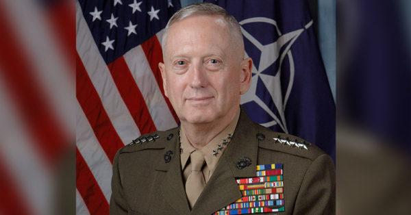 Source: Wikimedia Commons Secretary of Defense, General James Mattis