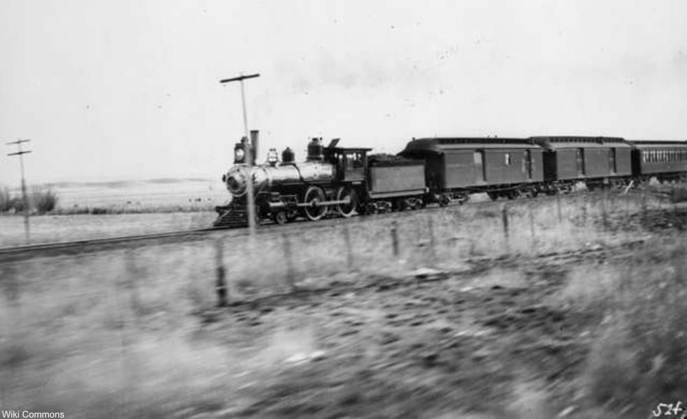 Texas passenger train 1890s