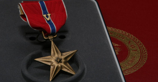 Source: Wikimedia Commons Bronze Star with V device